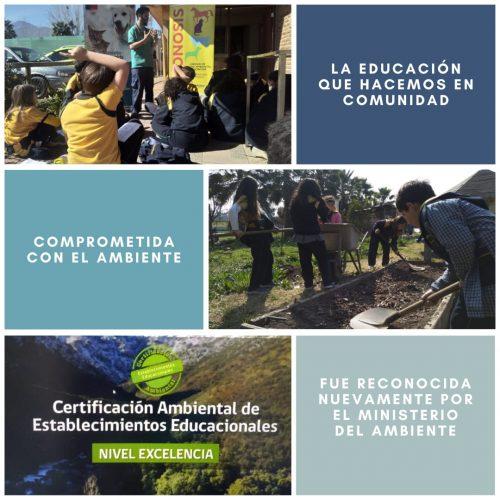 Certificacion medioambiental de excelencia MMA Colegio Colonial de Pirque